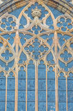Gothic window on St. Vitus cathedral in Prague, Czech Royalty Free Stock Image