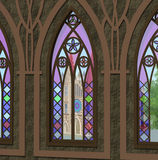 Gothic window Royalty Free Stock Images