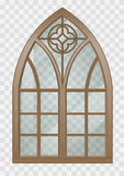 Gothic window of wood Royalty Free Stock Photography