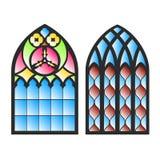 Gothic windows. Royalty Free Stock Photo