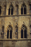Gothic Windows On Stone Tower Stock Photography