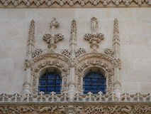 Gothic windows. Outside detai of the Constable´s chapel, Burgos cathedral (Spain Royalty Free Stock Photo