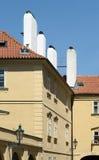 Gothic windows in Prague Stock Image