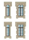 Gothic windows set Royalty Free Stock Image
