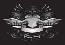 Gothic Winged Shield Insignia Royalty Free Stock Images