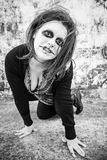 Gothic woman with aggression Royalty Free Stock Photos