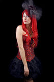 Gothic woman in corset Royalty Free Stock Image