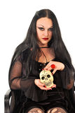 Gothic woman with skill Royalty Free Stock Photo