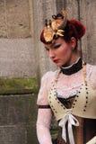 Gothic woman vintage style stock photos
