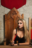 Gothic Women Stock Photos
