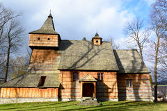 Gothic wooden church in Grywald Stock Image
