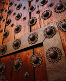 Gothic wooden door detail. Stock Images
