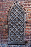 Gothic Wooden Door To A Church Royalty Free Stock Images