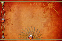 Gothica Layout. Red ghotic background frame made in Photoshop using my own textures, images and PS  brushes. A unique background for an photoalbums, web pages Stock Image