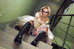 Gothik bride Royalty Free Stock Image