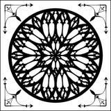 Gothique a monté, l'élément d'architecture gothique illustration de vecteur