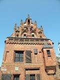 Gotic Gebäude in Kaunas Lizenzfreie Stockfotografie
