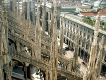Gotic roof. Roof of gothic Milan cathedral Stock Photos