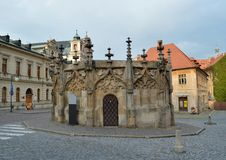 Gotic Stone Fountain in Kutna Hora, Czech Republic Royalty Free Stock Image