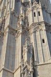 Gotic utformade väggen av Matthias Church Arkivfoton