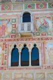 Gotic Venetiaanse vensters van het kasteel van Spilimbergo Stock Fotografie