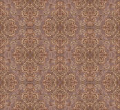 Gotihic pattern. Florid pattern in brown and beige gamut on lilac background Stock Image