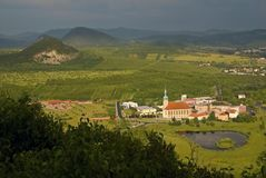 Gotique church in Most, Czech republic Stock Image