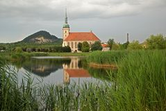 Gotique church in Most, Czech republic Royalty Free Stock Photography