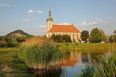 Gotique church in Most, Czech republic Royalty Free Stock Photo