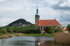 Gotique church in Most, Czech republic Royalty Free Stock Image