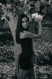 Gotisch brunette Royalty-vrije Stock Fotografie