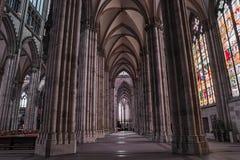 Gotisch de kathedraalbinnenland van Keulen, Duitsland, Europa Stock Foto's