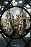 Gotisch gebrandschilderd glas Stock Fotografie