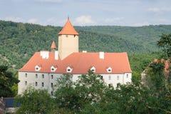 Gotisch kasteel in het hout Stock Foto