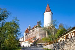 Gotisch kasteel Krivoklat, Tsjechische republiek royalty-vrije stock foto
