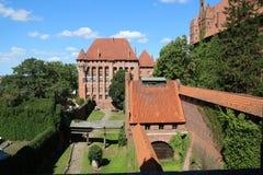 Gotisch kasteel in Malbork, Polen Royalty-vrije Stock Foto