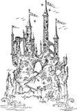 Gotisch kasteel van fairytale III Royalty-vrije Stock Foto's