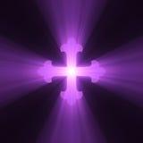 Gotisch Kruis met lichte gloed Stock Afbeelding