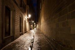 Gotisch kwart van Barcelona Stock Foto's