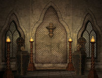 Gotisch landschap royalty-vrije illustratie