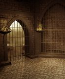 Gotisch landschap 56 royalty-vrije illustratie