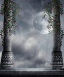 Gotisch landschap 77 vector illustratie