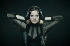 Gotisch meisje stock foto