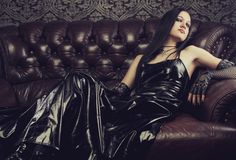 Gotisch meisje royalty-vrije stock fotografie