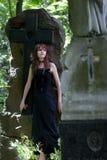 Gotisch meisje royalty-vrije stock foto's