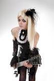 Gotisch meisje met artistieke samenstelling Royalty-vrije Stock Foto