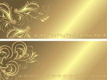 Gotisch ornament voor twee banners Royalty-vrije Stock Afbeelding