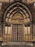 Gotisch portaal Stock Foto