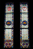Gotisch stained-glass venster Royalty-vrije Stock Fotografie