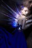 Gotisch stijl vrouwelijk model royalty-vrije stock foto